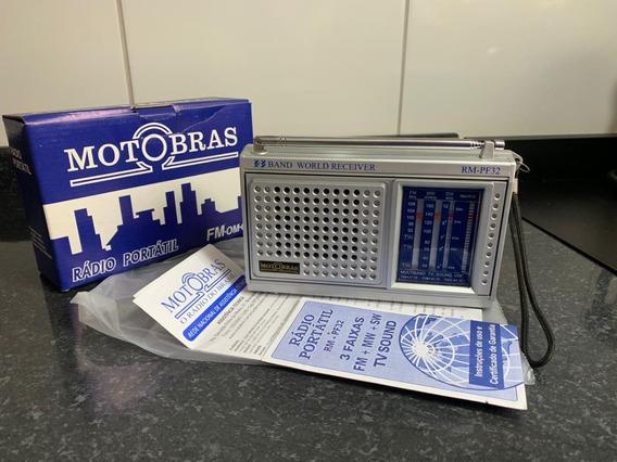 Radio Motobras 3 Faixas Rmpf32 - Antigo Ótimo Estado!