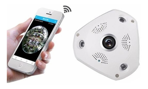 Camera De Seguranca Ip Panoramica 360 Graus Wifi 1,3 Mp Ir