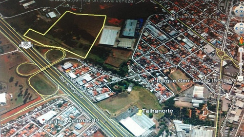 Área À Venda, 94354 M² Por R$ 26.420.000,00 - Jardim Aclimação (nova Veneza) - Sumaré/sp - Ar0342