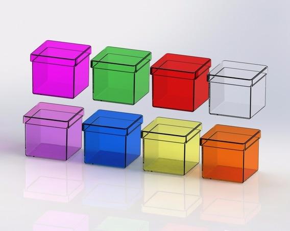 Caixinha Em Acrílico 5x5 (150 Unidades ) Caixa Lembrancinhas