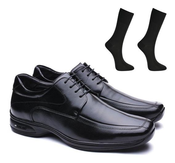 Sapato Social Masculino Jota Pe 71454 Couro Legítimo 3d Air