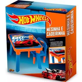 Brinquedos Para Menino Hot Wheels Mesinha C/ Cadeira Hw6020