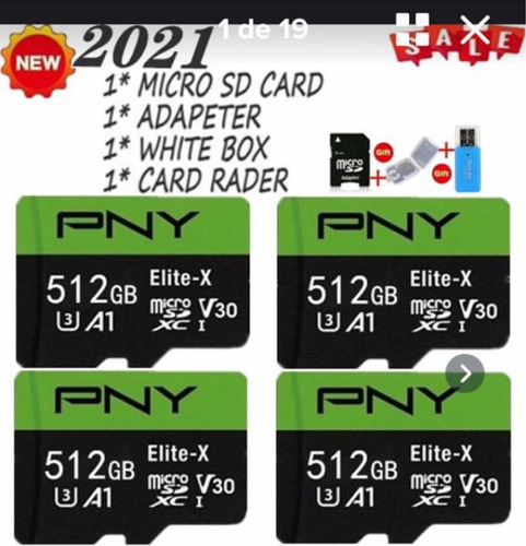 Imagem 1 de 8 de Cartão De Memória Micro Sd Pro Eilte Sd3 Xc1 De 512 Gb Lacra