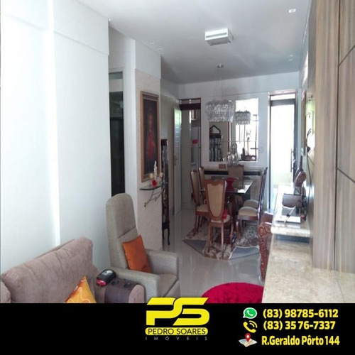 (oportunidade) Apartamento No Manaíra Com 145,60m² E 3 Quartos Sendo 1 Suíte - Ap2002