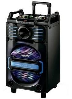 Caixa De Som Amplificada 240w Plug P10 Microfone E Guitarra