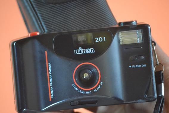 Câmera Antiga Kinon 201 C/ Case Funciona Decoração
