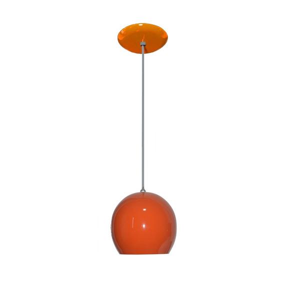 Luminaria Colorida Modelo Bolinha - 14cm X 15cm - Laranja