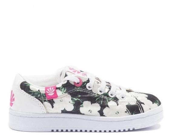 Zapatillas Kioshi Dido Flores Blancas