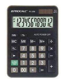 Calculadora De Mesa Procalc Pc286 12 Digitos Preta