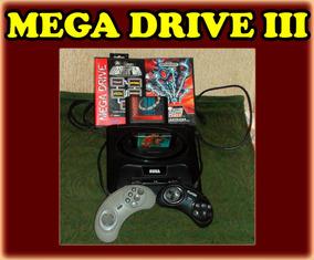 Mega Drive 3 Iii + Controles + 16 Jogos - 12x Sem Juros