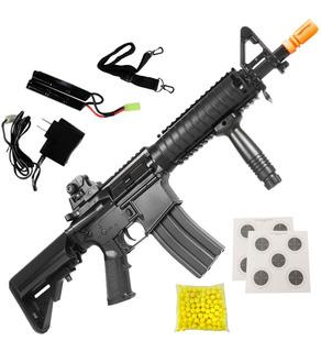 Rifle Fuzil M4a1 Airsoft Elétrico Cqb Heavy Cyma Aeg Bivolt Cm176 230 Fps 6mm