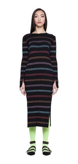 Vestido Violet Casual Cuello Cubierto Mujer Complot