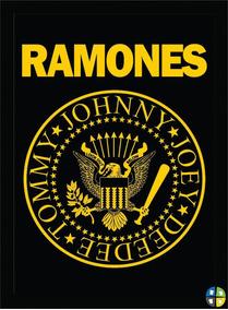 Quadro Poster Ramones Rock Bandas Modelo 1 Com Moldura A3