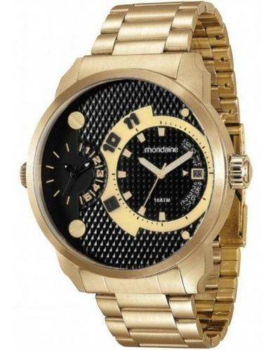 Relógio Masculino Dourado Mondaine Ultrasize 78527gpmvda2