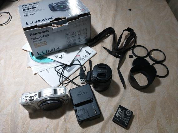 Lente Panasonic Lumix 14-42mm G Ii + Lumix Gf5 Com Detalhe