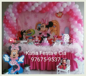 Decoração De Festa Infantil Minie Rosa Aluguel