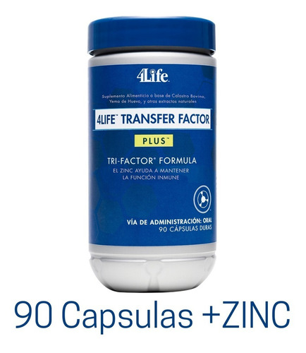 Imagen 1 de 6 de Factor De Transferencia Plus+zinc 90caps Entrega Imnediata