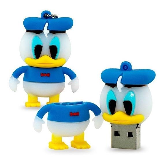 Pen Drive Personalizado 8gb Pato Donald Chaveiro 7 Unidades