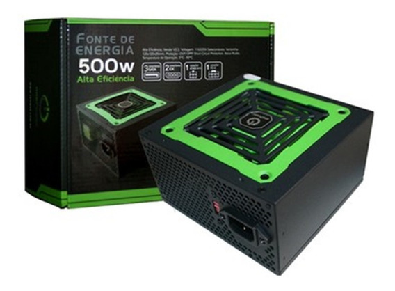 Fonte Atx 500w Real Gamer 120mm Alta Eficiência Nf# Liquida