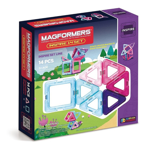 Magformers Inspire 14 Piezas. Figuras Geométricas Imantadas