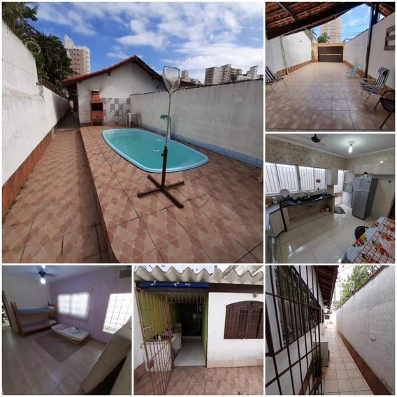 Casa Com 3 Dormitórios À Venda, 130 M² Por R$ 320.000 - Aviação - Praia Grande/sp - Ca0027