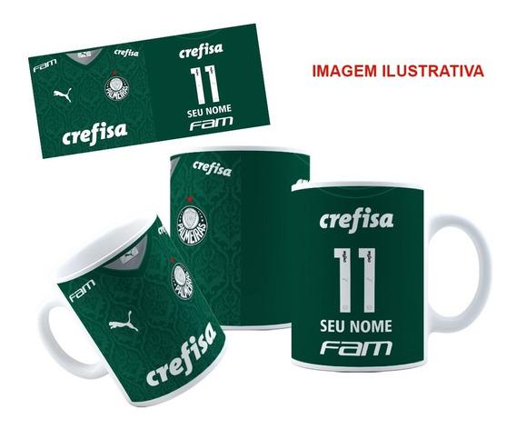 Caneca Palmeiras Personalizada Com Nome E Número