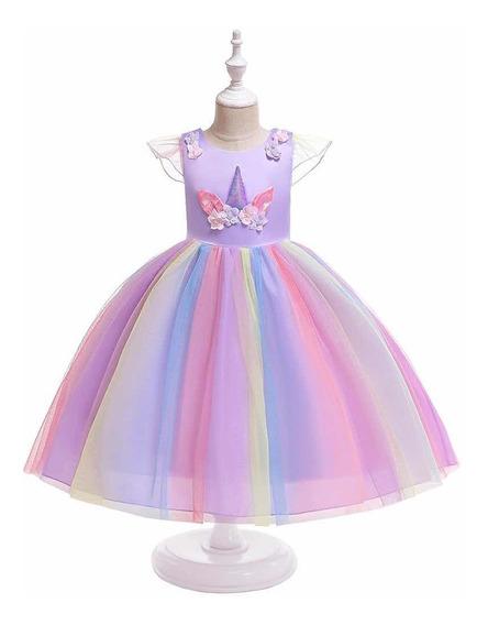 Vestido Unicornio Para Niñas