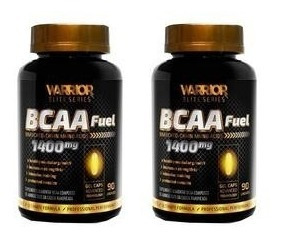 Kit 2x Bcaa Fuel Suplemento 90cps 1400mg Suplemento Insulina
