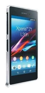 Sony Xperia Z1 Funda Bumper Love Mei Plata Aluminio