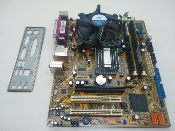 Kit 775 Placa Mãe + Cpu Dual Core E5200 + 2gb Ddr2