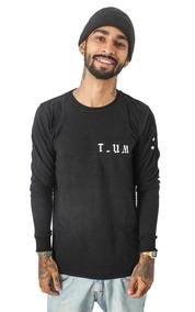 Camiseta Manga Longa Pyramid T-um