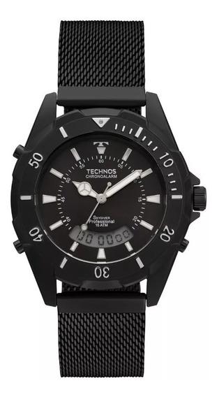 Relógio Technos Skydiver T205jg/4p Preto Aço