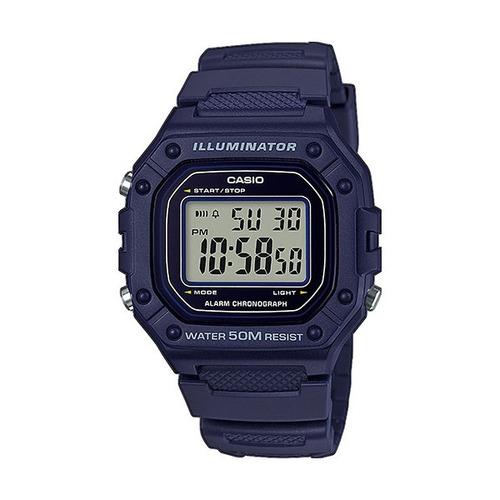 Reloj Casio Digital W-218h-2a Wr50 Ag Oficial Gtia 2 Años