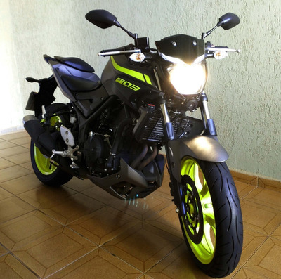 Yamaha Mt03 Abs -321cc -cinza Fosco Night Fluo -2019-3.700km