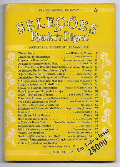 Revista Seleções Nº 6 De Julho 1942