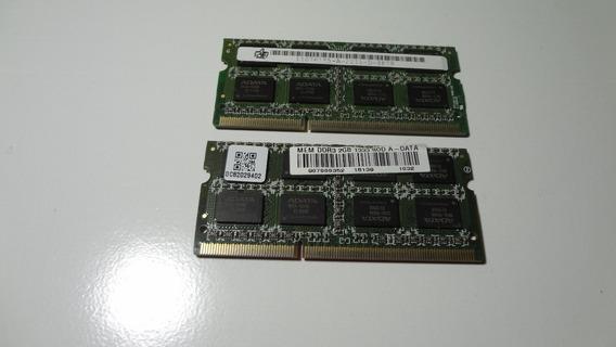 Memória Ddr3 4gb 2x2 Do Notebook Asus K43b Original