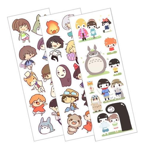 Plancha De Stickers De Anime De Studio Ghibli (2) Howl Chihi