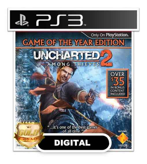 Uncharted 2 Among Thieves Goty Edition Ps3 Psn Midia Digital