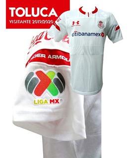 Jersey Toluca Visitante 2019/2020 + Parche Liga Mx