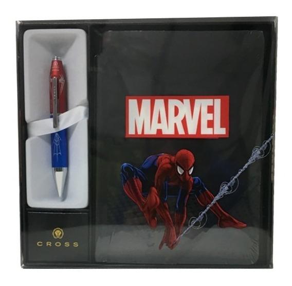 Set Marvel Spiderman Cross Roller X Series + Cuaderno