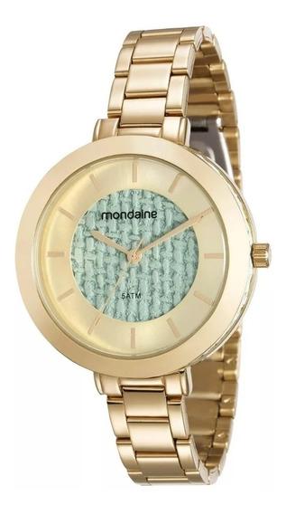 Relógio Feminino Dourado Mondaine 99172lpmvde2
