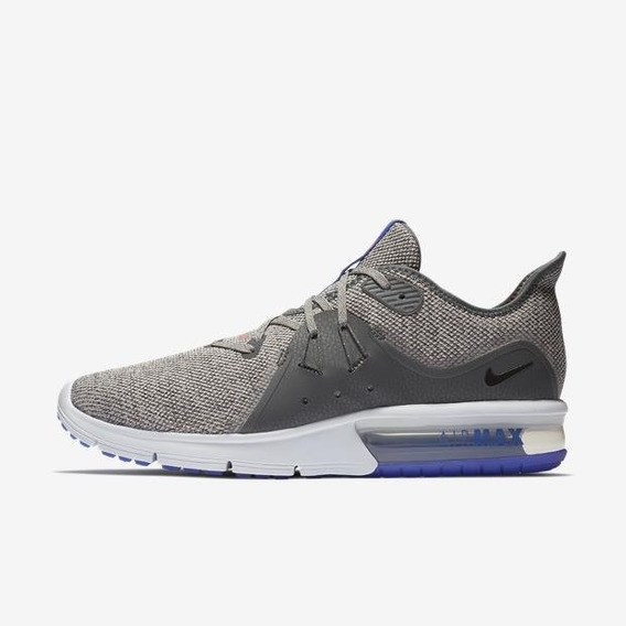 Tenis Deportivo Hombre Nike Air Max Sequent 3 Gris 013