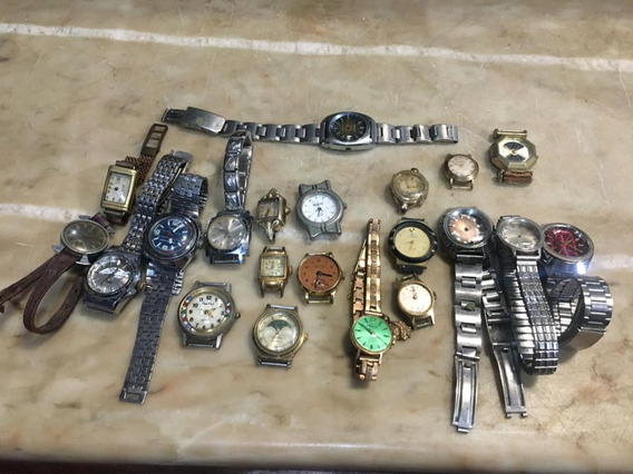 Lote De Relógios De Pulso Femininos Antigos Com 22 Peças