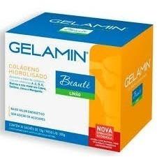 Gelamin Colágeno Hidrolisado 30 Sachês / Vitaminas Biotina