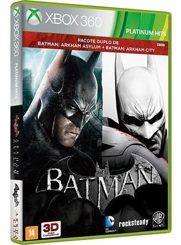 Batman Arkham Asylum + Arkham City Mídia Física Lacrado 360