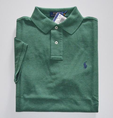 574ad4ee0e Manga Curta · Masculino · Verde escuro. 4 cores. Camisa Polo Ralph Lauren  Tamanho M Nova Original Custom Fit
