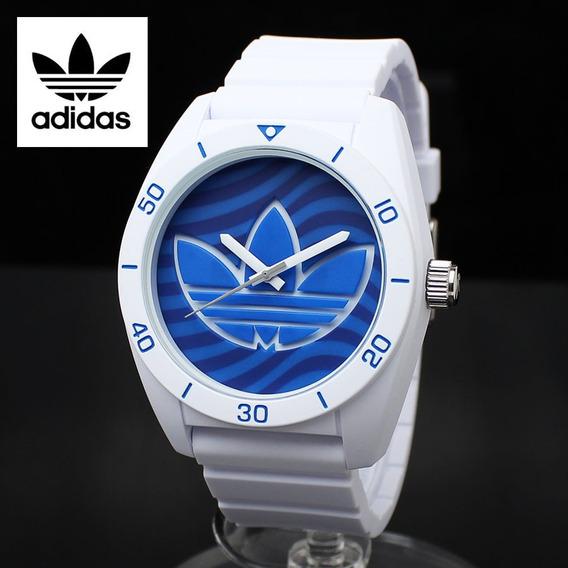 O Verdadeiro adidas Santiago De Silicone Azul Relógio