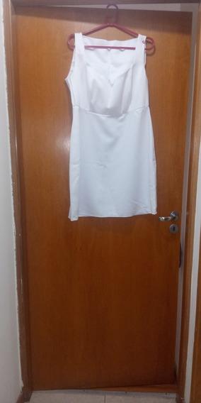 Vestido Blanco Corto De Diseñadora