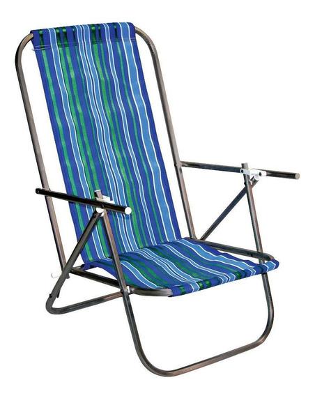 Cadeira De Praia Botafogo Cad0049 Aço - Diversas Cores