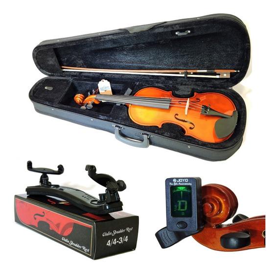 Kit Violino Barth 4/4 C/ Estojo Term+ Espaleira+ Afinador Bk